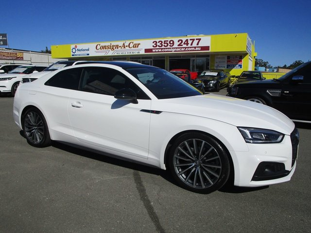 Used Audi A5 F5 MY17 Sport S Tronic Quattro Kedron, 2017 Audi A5 F5 MY17 Sport S Tronic Quattro White 7 Speed Sports Automatic Dual Clutch Coupe