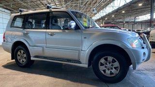 2003 Mitsubishi Pajero NP Exceed Silver 5 Speed Sports Automatic Wagon.