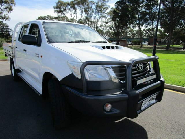 Used Toyota Hilux KUN26R MY11 Upgrade SR (4x4) Glenelg, 2011 Toyota Hilux KUN26R MY11 Upgrade SR (4x4) White 5 Speed Manual Cab Chassis