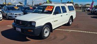 2003 Mitsubishi Triton MK MY02 GLX Double Cab 4x2 White 5 Speed Manual Utility
