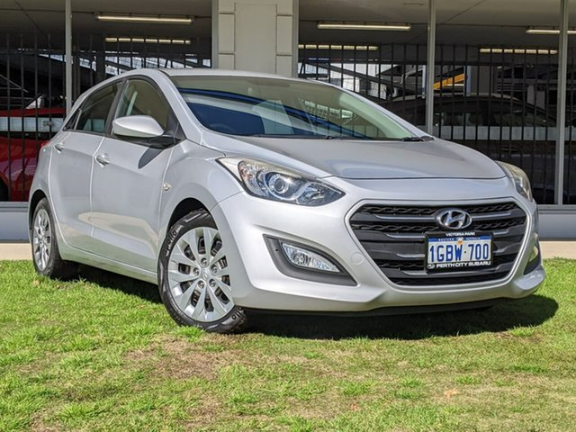 Used Hyundai i30 GD4 Series II MY17 Active Victoria Park, 2016 Hyundai i30 GD4 Series II MY17 Active Silver 6 Speed Sports Automatic Hatchback