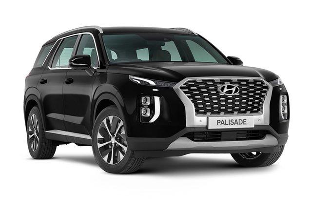 New Hyundai Palisade LX2.V1 MY21 AWD Geelong, 2021 Hyundai Palisade LX2.V1 MY21 AWD Timeless Black 8 Speed Automatic Wagon