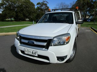 2009 Ford Ranger PJ 07 Upgrade XL (4x2) White 5 Speed Manual Cab Chassis