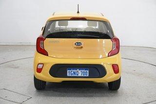 2018 Kia Picanto JA MY18 S Honey Bee Yellow 4 Speed Automatic Hatchback