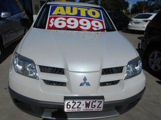 2005 Mitsubishi Outlander ZF MY06 LS White 4 Speed Sports Automatic Wagon.
