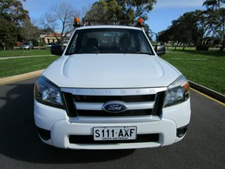 2009 Ford Ranger PJ 07 Upgrade XL (4x2) White 5 Speed Manual Cab Chassis.