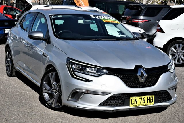 Used Renault Megane BFB GT EDC Phillip, 2017 Renault Megane BFB GT EDC Silver 7 Speed Sports Automatic Dual Clutch Hatchback