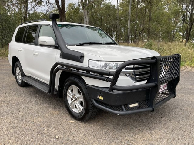 Pre-Owned Toyota Landcruiser VDJ200R MY16 GXL (4x4) Chinchilla, 2016 Toyota Landcruiser VDJ200R MY16 GXL (4x4) Glacier White 6 Speed Automatic Wagon