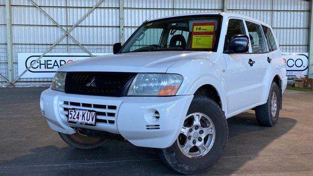 Used Mitsubishi Pajero NP GLX Rocklea, 2003 Mitsubishi Pajero NP GLX White 5 Speed Manual Wagon