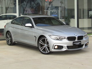 2016 BMW 4 Series F36 428i Gran Coupe M Sport Silver 8 Speed Sports Automatic Hatchback.
