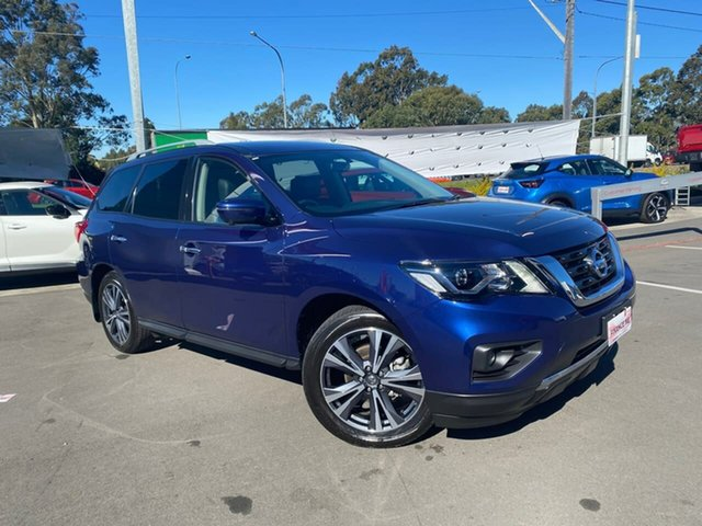 Used Nissan Pathfinder R52 Series III MY19 Ti X-tronic 2WD Liverpool, 2019 Nissan Pathfinder R52 Series III MY19 Ti X-tronic 2WD Caspian Blue 1 Speed Constant Variable