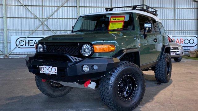 Used Toyota FJ Cruiser GSJ15R Rocklea, 2013 Toyota FJ Cruiser GSJ15R Green 5 Speed Automatic Wagon