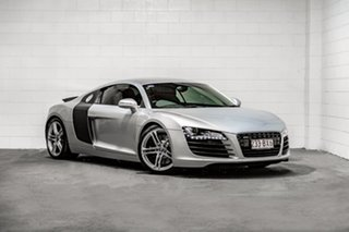 2008 Audi R8 Quattro Silver 6 Speed Sports Automatic Single Clutch Coupe.