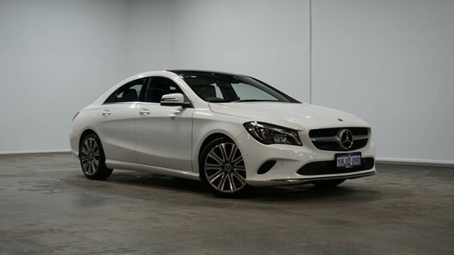 Used Mercedes-Benz CLA-Class C117 809MY CLA200 DCT Welshpool, 2018 Mercedes-Benz CLA-Class C117 809MY CLA200 DCT White 7 Speed Sports Automatic Dual Clutch Coupe