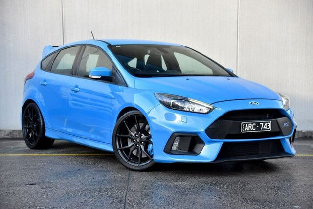 Used Ford Focus LZ RS AWD Oakleigh, 2017 Ford Focus LZ RS AWD Blue 6 Speed Manual Hatchback