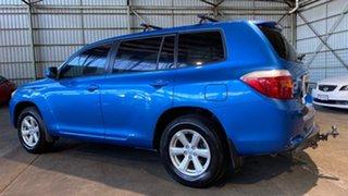 2009 Toyota Kluger GSU40R KX-R 2WD Blue 5 Speed Sports Automatic Wagon