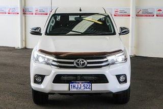 2017 Toyota Hilux GUN126R MY17 SR5 (4x4) Glacier White 6 Speed Manual Dual Cab Utility.