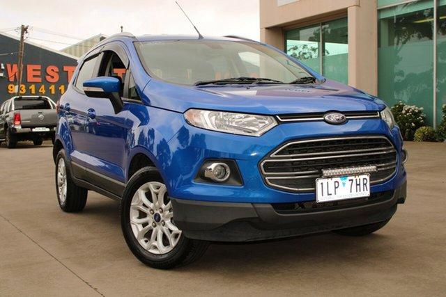 Used Ford Ecosport BK Titanium 1.5 West Footscray, 2017 Ford Ecosport BK Titanium 1.5 Blue 6 Speed Direct Shift Wagon