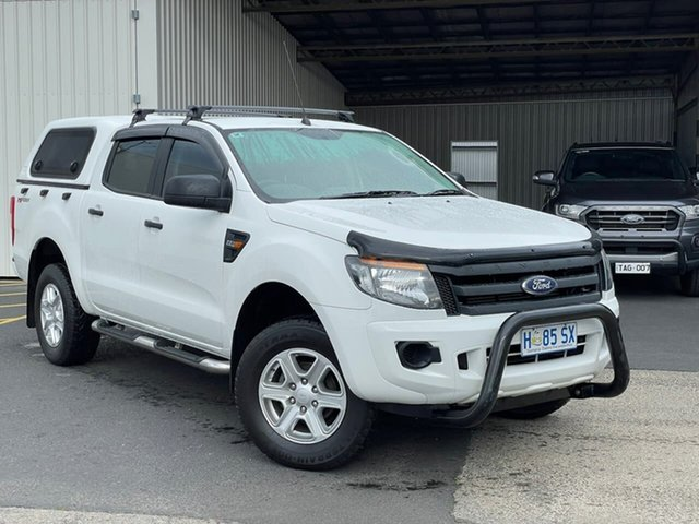 Used Ford Ranger PX XL Hi-Rider Moonah, 2015 Ford Ranger PX XL Hi-Rider White 6 Speed Sports Automatic Cab Chassis
