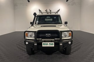 2015 Toyota Landcruiser VDJ79R Workmate French Vanilla 5 speed Manual Cab Chassis.