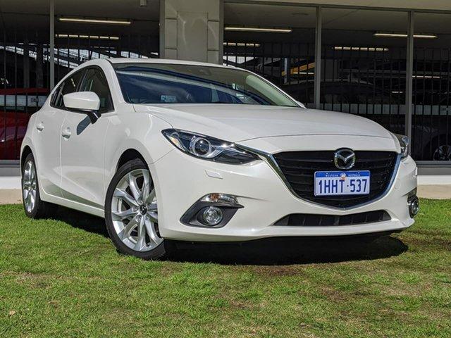 Used Mazda 3 BM5438 SP25 SKYACTIV-Drive GT Victoria Park, 2015 Mazda 3 BM5438 SP25 SKYACTIV-Drive GT White 6 Speed Sports Automatic Hatchback