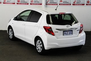 2015 Toyota Yaris NCP130R MY15 Ascent Glacier White 4 Speed Automatic Hatchback