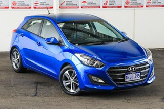 2016 Hyundai i30 GD4 Series 2 Active X Blue 6 Speed Automatic Hatchback.