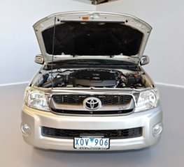 2010 Toyota Hilux GGN15R MY10 SR5 Xtra Cab 4x2 Silver 5 Speed Automatic Utility