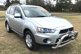 2011 Mitsubishi Outlander ZH MY12 LS 2WD Silver 6 Speed Constant Variable Wagon.