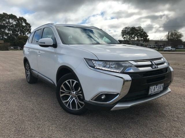 Pre-Owned Mitsubishi Outlander ZL MY19 LS 7 Seat (AWD) Wangaratta, 2018 Mitsubishi Outlander ZL MY19 LS 7 Seat (AWD) White Continuous Variable Wagon