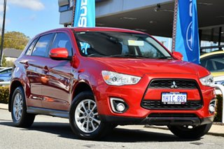 2013 Mitsubishi ASX XB MY13 2WD Red 6 Speed Constant Variable Wagon.