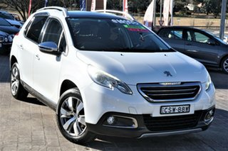2013 Peugeot 2008 A94 Allure White 4 Speed Sports Automatic Wagon.