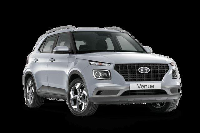 Demo Hyundai Venue QX.V3 MY21 Active Hamilton, 2021 Hyundai Venue QX.V3 MY21 Active Typhoon Silver 6 Speed Automatic Wagon