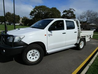 2011 Toyota Hilux KUN26R MY12 SR (4x4) White 5 Speed Manual Dual Cab Chassis