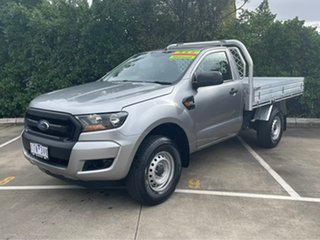 2017 Ford Ranger PX MkII XL Hi-Rider Silver 6 Speed Manual Cab Chassis.