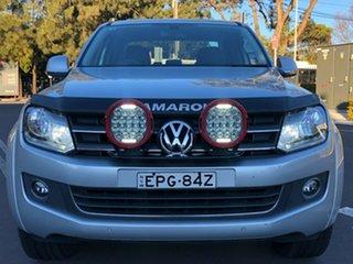 2014 Volkswagen Amarok 2H MY14 TDI420 4Motion Perm Highline Silver 8 Speed Automatic Utility.
