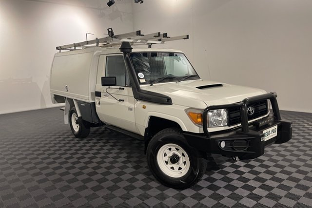 Used Toyota Landcruiser VDJ79R Workmate Acacia Ridge, 2015 Toyota Landcruiser VDJ79R Workmate French Vanilla 5 speed Manual Cab Chassis