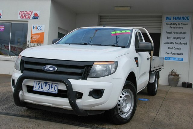 Used Ford Ranger PX XL 2.2 (4x2) Wendouree, 2013 Ford Ranger PX XL 2.2 (4x2) White 6 Speed Manual Cab Chassis