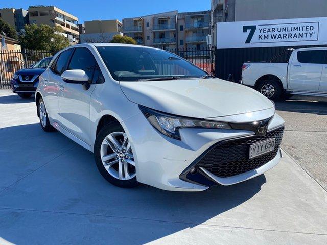Used Toyota Corolla Mzea12R SX Homebush, 2018 Toyota Corolla Mzea12R SX White 10 Speed Constant Variable Hatchback