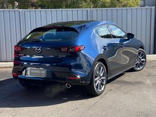 2021 Mazda 3 BP2H7A G20 SKYACTIV-Drive Touring Deep Crystal Blue 6 Speed Sports Automatic Hatchback