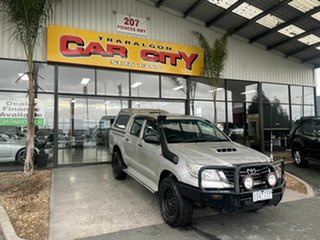 2013 Toyota Hilux KUN26R MY14 SR (4x4) Silver 5 Speed Manual Dual Cab Chassis.
