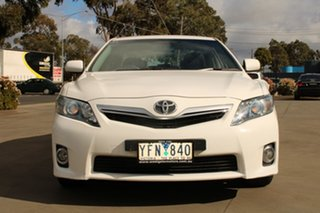 2011 Toyota Camry AHV40R Hybrid White Continuous Variable Sedan.