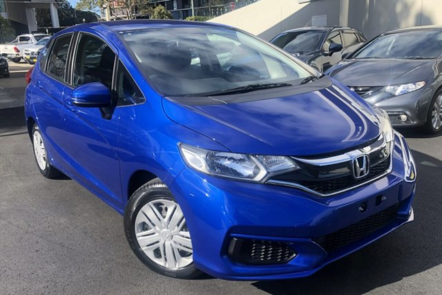 Used Honda Jazz GF MY18 VTi Zetland, 2018 Honda Jazz GF MY18 VTi Brilliant Sporty Blue 1 Speed Constant Variable Hatchback