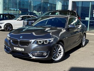 2017 BMW 220i F22 MY18 Luxury Line Mineral Grey 8 Speed Automatic Coupe.