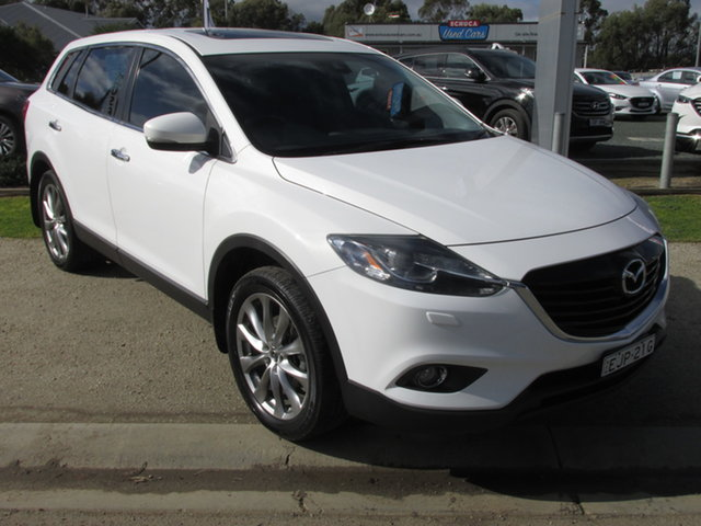 Used Mazda CX-9 TB10A5 Grand Touring Activematic AWD Echuca, 2014 Mazda CX-9 TB10A5 Grand Touring Activematic AWD White 6 Speed Sports Automatic Wagon