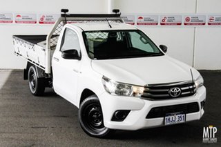 2015 Toyota Hilux GUN123R SR Glacier White 5 Speed Manual Cab Chassis.