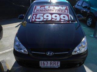 2011 Hyundai Getz TB MY09 S Black 5 Speed Manual Hatchback.