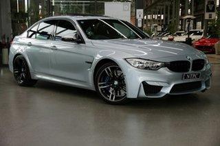 2016 BMW M3 F80 LCI M-DCT Silver 7 Speed Sports Automatic Dual Clutch Sedan.