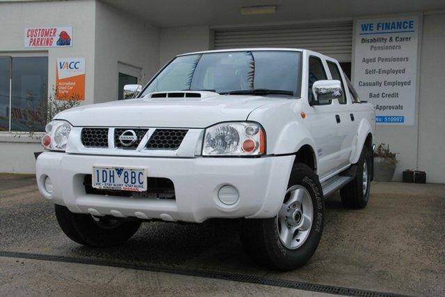Used Nissan Navara D22 Series 5 ST-R (4x4) Wendouree, 2014 Nissan Navara D22 Series 5 ST-R (4x4) White 5 Speed Manual Dual Cab Pick-up