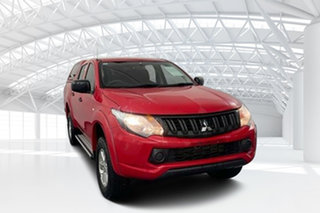 2017 Mitsubishi Triton MQ MY17 GLS (4x4) Red 5 Speed Automatic Dual Cab Utility.